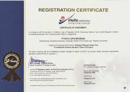 Quality Certification Letter certification kayu lapis indonesia group