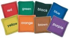 colour bean bags set of 8 learning 4 kids