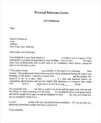 Reference Letter York sle personal reference letter friend apartment juzdeco