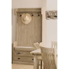 meuble portemanteau 2 tiroirs paulownia meubles macabane