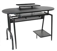 black corner office desk wide computer desk dark wood computer