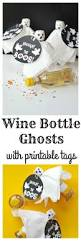 wine bottle ghosts with printable tags val event gal