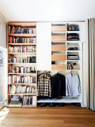 Bookcase With Cupboard Hide Storage With Curtains Houzz