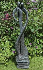 loving modern garden statue large contemporary sculpture
