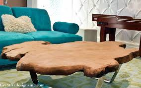 Raw Edge Table by Live Edge Coffee Table Cre8tive Designs Inc
