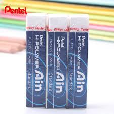 alin bureau pentel ain series hi polymer plastic pencil eraser less abrasion and