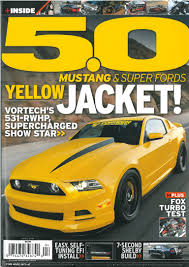 5 0 mustang magazine vortech s own yellow jacket 2014 mustang gt graces the cover of