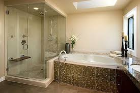 modern master bathroom with master bathroom by chermak