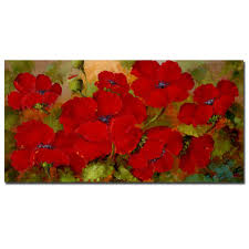 rio u0027poppies u0027 gallery wrapped canvas art free shipping today