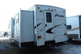 Outdoor Shower Rv - palomino puma 295bhss 5th wheel camper bunkhouse 2 slides outside
