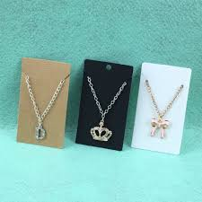 necklace earring display images New hot 100pcs 9 5cm kraft paper blank necklace earring cards jpg