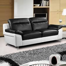 Black Leather Sofas Black And White Couch Inside The Living Room Makeover Of Emily