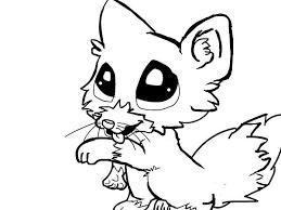fox 1 fox 1 fox flute coloring cute baby animal coloring