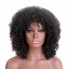 african american 70 s hairstyles for women amazon com stfantasy afro wig medium length long curly kinky 70s