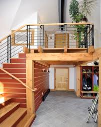 home interior design steps closets storages cheerful brown wooden steps staircase with