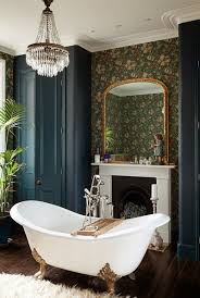 interior designs with william morris wallpaper tubs house and