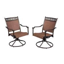 Home Depot Hampton Bay Patio Furniture - hampton bay niles park sling patio swivel rockers 2 pack s2