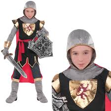 childrens brave crusader costume kids knight boys girls