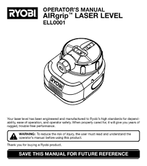 laser level users guides from