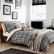 mens duvet covers mens duvet covers check bedding in charcoal at