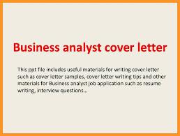 business analyst cover letter sample bio letter format