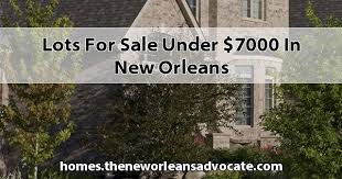 for sale under 7000 in new orleans