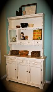 kitchen contemporary antique hutch with mirror white buffet