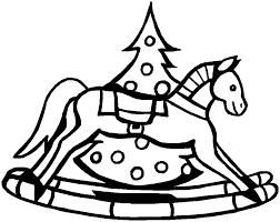 printable christmas coloring rocking horse