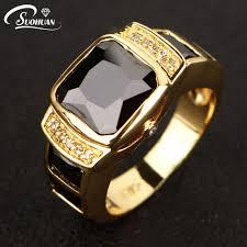 new mens rings images Suohuan size 7 11 charm rings for men male black zirconia stone jpg