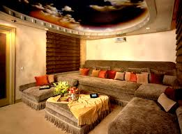 decorating inspiring home theater decor with gold trim plus cove
