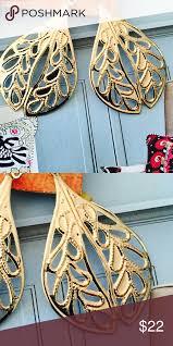 zara gold leaf earrings nwot nwt