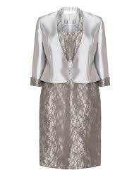 jurken mascara lace cocktail dress and matching jacket silver a36323 f2500 jpg