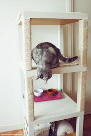 cat tree with ikea lack ikea hackers ikea hackers