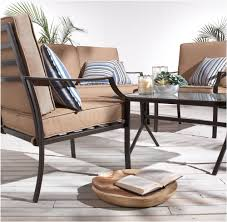 Durable Patio Furniture Strathwood 4 Piece Patio Furniture Set Outdoor Steel Sofa Table