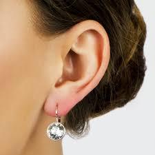 are leverback earrings for pierced ears 9mm cut leverback earrings
