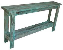 Farmhouse Console Table Aqua Distressed Sofa Table Farmhouse Console Tables By Doug