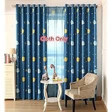 Kids Bedroom Blackout Curtains Amazon Com Anjee Navy Blue Star Print Blackout Curtains For Kids