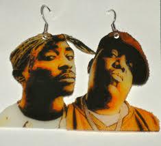 tupac earrings biggie and tupac earrings