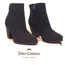 womens leather ankle boots size 9 82 couture shoes couture rhinestone ankle boots