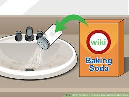 how to remove rust stains from porcelain sink 3 ways to clean a ceramic sink without chemicals wikihow