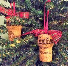 the happy little hive champagne cork ornaments