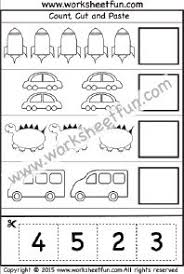 cut and paste activity u2013 count cut and paste u2013 1 worksheet cut