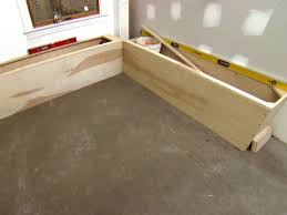 Kitchen Bench Seat With Storage How To Build Banquette Seating How Tos Diy
