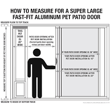 Patio Pacific Pet Doors Ideal Pet 15 In X 20 In Super Large Mill Aluminum Pet Patio Door