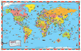 Map Of The United States For Children by Children World Map Poster Chatorioles