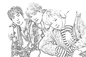 Bts Coloring Pages K Pop Amino Coloring Pages Kpop