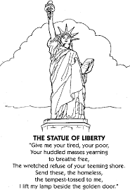 statue liberty cartoon drawing clip art library