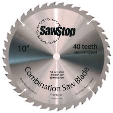 table saw blade width sawstop cns 07 148 40 tooth combination table saw blade 10 inch