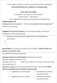 Resume Examples College Students by Resume Format For Business Plan Augustais