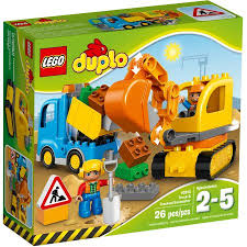 lego duplo town truck tracked excavator building set 10812